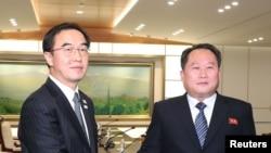 Kuzey ve Güney Kore delegasyon liderleri