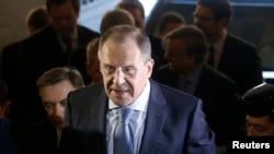 سرگی لاوروف، وزیر امورخارجه روسیه در اسپانیا - ۵ مارس ۲۰۱۴
