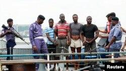 Імовірні пірати, затримані нігерійськими органами влади