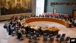 Les membres du Conseil de sécurité des Nations Unies se réunissen sur la Syrie, le 30 avril 2019.