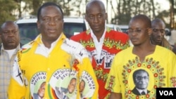 Vice President Emmerson Mnangagwa campaigning for Harare East Zanu PF candidate, Terrence Mukupe.