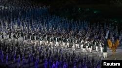 ایشین گیمز کی افتتاحی تقریب میں پاکستانی دستہ