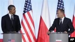 Američki predsjednik Barack Obama i poljski premijer Donald Tusk, u Varšavi, 28. svibnja 2011.