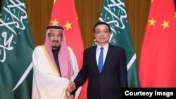 中國總理李克強2017年3月在北京會見沙特國王(傳媒聯合採訪/路透社)