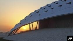 Salah satu sisi stadion sepak bola dengan teknologi pendingin udara di Doha, Qatar (Foto: dok).