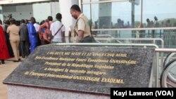 Inauguration nouvelle aérogare de Lomé / Togo