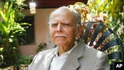 FILE - Huber Matos at his home in Miami, Aug. 3, 2006.