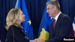 Xillari Klinton, Kosovo Bosh vaziri Xashim Tachi, Prishtina