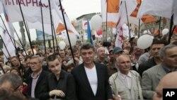 Лидеры российской оппозиции на акции протеста 15 сентября 2012