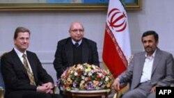 Iranski predsednik Mahmud Ahmadinedžad i nemački ministar inostranih poslova Gvido Vestervele