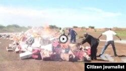 Hukumar Cinikayya ta Niger ta kone gurbatattun kayan masarufi da ta kwace daga shaguna