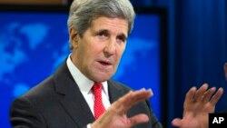"""""""Me estoy asegurando que la libertad religiosa siga siendo parte integral de nuestro compromiso"""", dijo John Kerry al presentar el informe."""