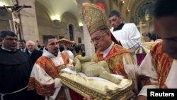 Патриарх Иерусалима латинского обряда Римско-католической церкви Фуад Туаль. Вифлеем, Палестинская автономия. 25 декабря 2012 года