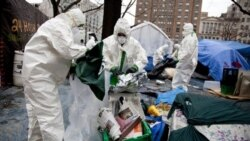 بازرسی چادرهای جنبش اشغال در شهر واشنگتن