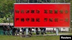 Binh sĩ Trung Quốc ở Tam Mei, Hong Kong, ngày 28/09/2019.