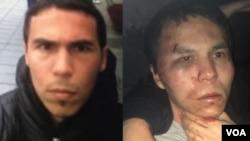 터키 이스탄불 나이트클럽 테러 용의자 압둘카디르 마샤리포프를 체포했다며, 터키 경찰이 16일 사진(오른쪽)을 공개했다. 왼쪽은 앞서 수배 당시 공개된 스마트폰 촬영 영상 속 모습.