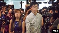 本土派青年新政前立法會議員游蕙禎、梁頌恆(資料圖片 VOA湯惠芸攝)