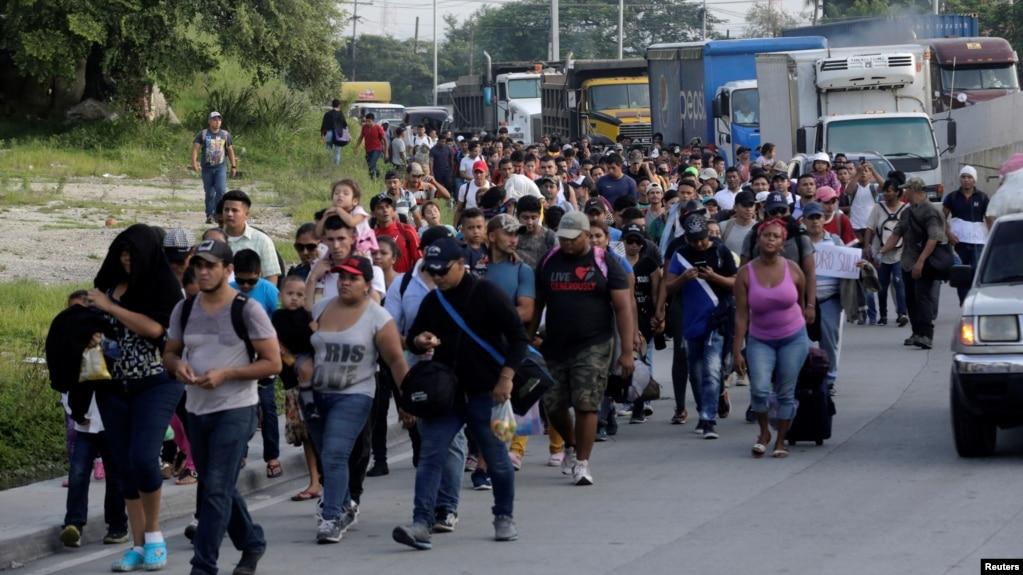 Đoàn người di cư từ Honduras đang đổ tới Hoa Kỳ.