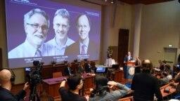 La academia sueca presentó a los tres laureados con el premio Nobel de Medicina el lunes 7 de octubre de 2019.