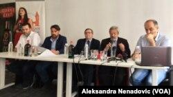 Programski direktor, izvršni producent i selektor Evropskog filmskog festivala na Paliću na konferenciji za štampu, Foto: Glas Amerike