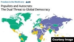 Freedom House merilis laporan terbaru hari Selasa (31/1).