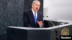 以色列總理內塔尼亞胡星期二在聯合國大會發言