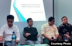 Diskusi amandemen oleh parlemen di PSHK UII. (Foto: PSHK UII2)