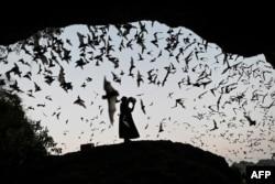 ARHIVA - Žena pravi buku da bi otjerala slijepe miševe, 1. mart 2020. (Foto: AFP)
