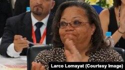 Nouvo prezantan Nasyon Zini pou Ayiti a, Susan Page.