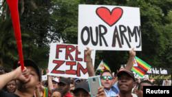 زمبابوے میں رابرٹ موگابے کے خلاف مظاہرے