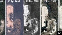 卫星图像显示,朝鲜在西北部第二个导弹发射场已建成一座发射塔