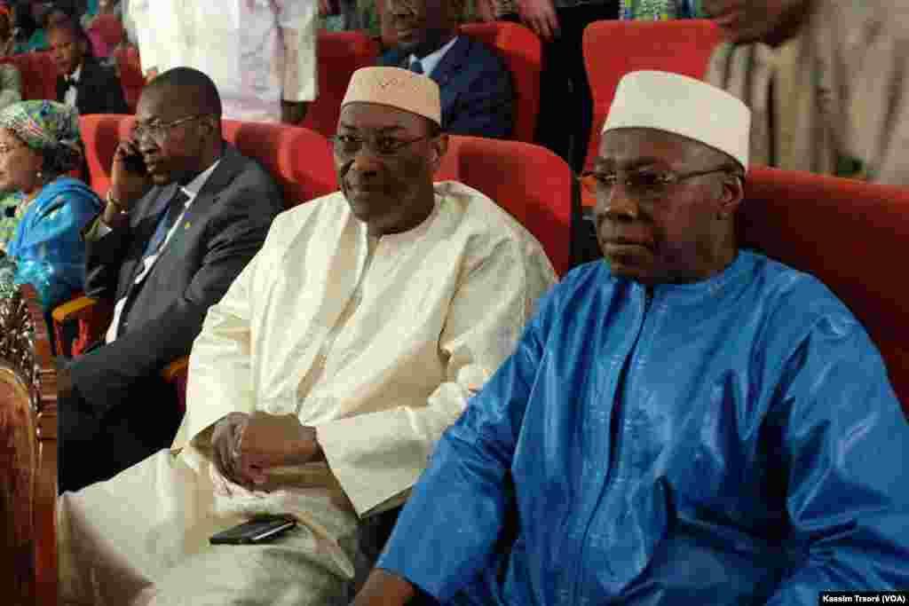 Vue de ministres maliens lors de la célébration du 8 mars à Bamako, Mali.