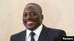 Le président de la République Démocratique du Congo, Joseph Kabila au Palais de la Nation à Kinshasa, 4 mai 2014.
