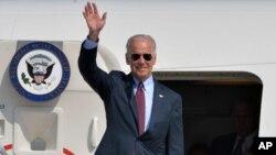 جو بایدن معاون رئیس جمهور ایالات متحده در یک سفر دو روزه به اوکراین رسید