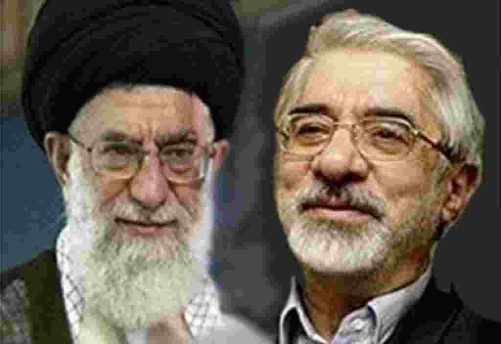Mehdi Karroubi and Mir Hossein Mousavi