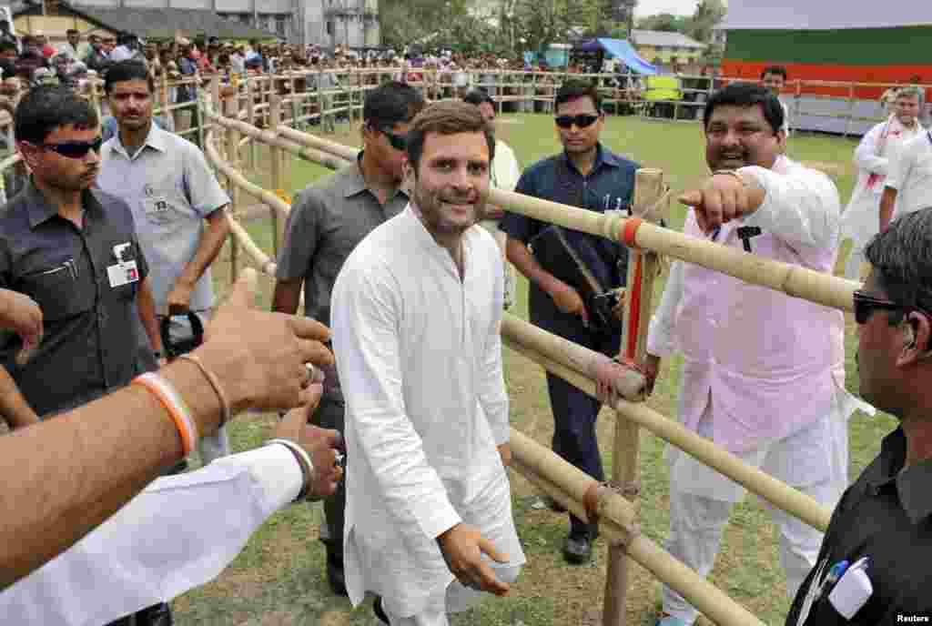 برسر اقتدار جماعت کانگریس کی جانب سے پارٹی کے نائب صدر راہل گاندھی نے انتخابات کی قیادت کی تھے۔