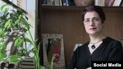Iranian human rights lawyer Nasrin Sotoudeh appears in this undated photo.