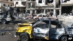 지난 21일 시리아 정부 군이 장악하고 있는 홈스 지역 자흐라 마을에 폭탄 테러가 발생했다.