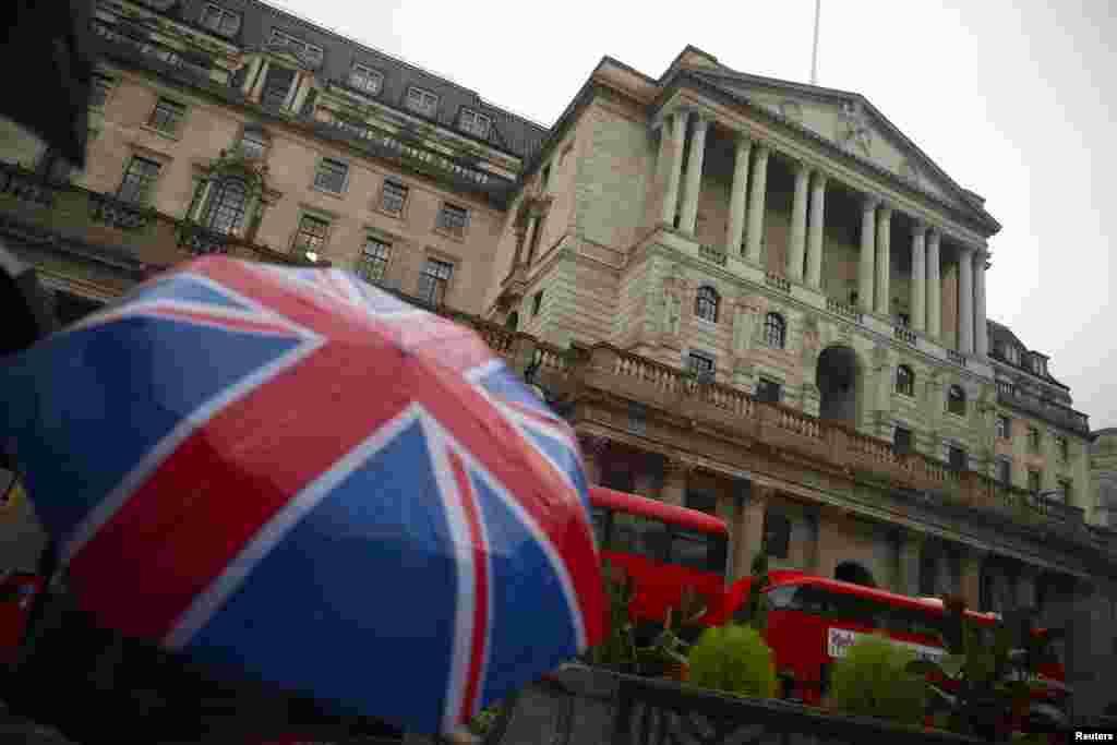تصویری از ساختمان بانک انگلیس در لندن