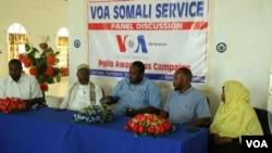 VOA Somali Service Polio panel discussion in Garowe Nugaal Region, Puntland Somalia.