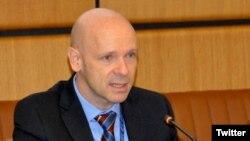 Thomas Hushek ambasaderi wa Reta zunze ubumwe z'Amerika muri Sudani y'ubumanuko.