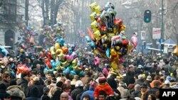 """Tradicionalna prvojanuarska manifestacija """"Ulica otvorenog srca"""" u Beogradu čiji je prihod ove godine namenjen zemljotresom pogođenom Kraljevu"""