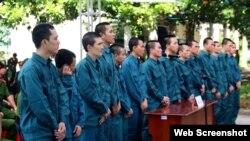 15 người bị phạt tù tại Bình Thuận, ngày 26/9/2018.