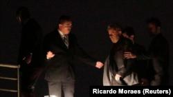 Lula da Silva à chegada à prisão