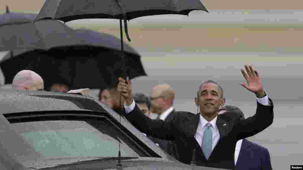 Barack Obama peu après son arrivée à La Havane, 20 mars 2016.