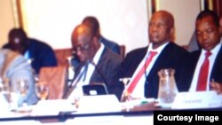 Chinamasa and the other members of the Zimbabwe delegation in Peru.