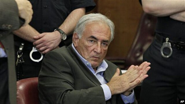 Former International Monetary Fund leader Dominique Strauss-Kahn listens to proceedings in his case in New York state Supreme Court, May 19, 2011