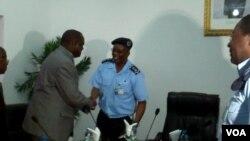 Angola secretario geral da UNITA Vitorino Nhany e comandante da policia em Malanje António José Bernardo