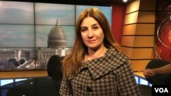 Vian Dakhil is the only Yazidi member of the Iraqi Parliament. She has been working to help tens of thousands of other Yazidis who are trapped in areas overrun by the Islamic State militants or who have fled the militants. She visited VOA's Kurdish Service, Dec. 11, 2014.