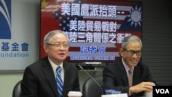 国家政策基金会2018年3月26日举办美中台关系座谈会 (美国之音张永泰拍摄)